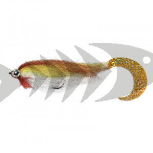 Wiggle Pike Streamer col. brown trout