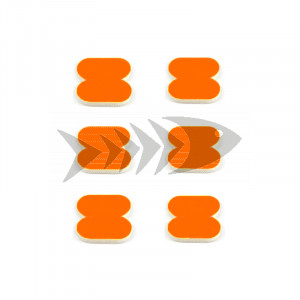 FFM Butterfly Foam Indicator small Fl.orange