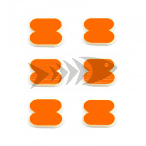 FFM Butterfly Foam Indicator medium Fl.orange