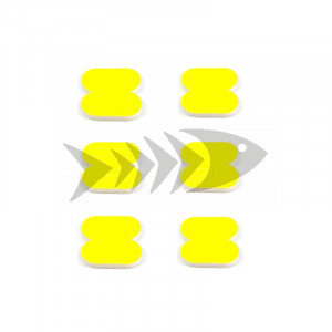FFM Butterfly Foam Indicator small Fl.yellow