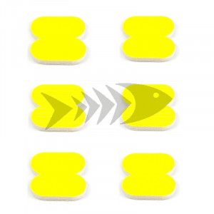 FFM Butterfly Foam Indicator large Fl.yellow