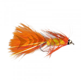 Gold Head Wolly Bugger - Hot Orange